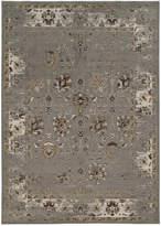 "Kenneth Mink Spectrum Mod Isfahan Grey 5'3"" x 7'6"" Area Rug"