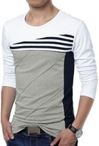 uxcell Allegra K Men Color Block Stripes T-Shirt