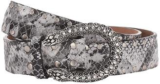 Leather Rock Sahara Belt (Snake Black/White) Women's Belts