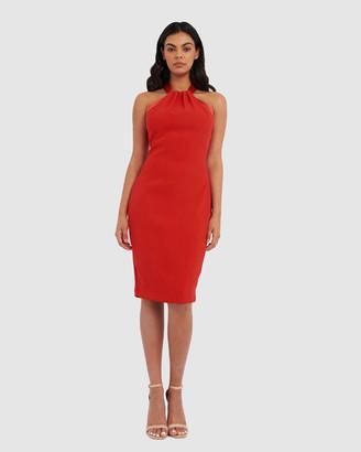 Forcast Greta Twist Halter Bodycon Dress