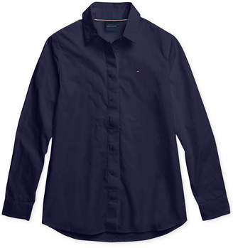 Tommy Hilfiger Adaptive Women Olivia Oxford Shirt with Magnetic Closures