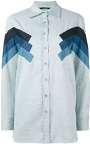 Neil Barrett chevron detail shirt - women - Cotton - XS