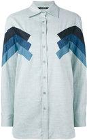 Neil Barrett chevron detail shirt