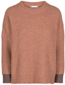 Co'couture - Row Knit - polyester | apricot | M (38-40) - Apricot