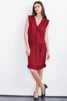 Bayle Damask Ruffle Dress
