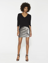 Halston Bi-Sequined Mini Skirt