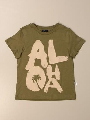 Il Gufo Cotton T-shirt With Big Aloha Print