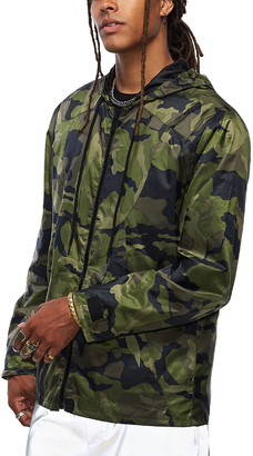 True Religion Men's Non-Denim Casual Jackets GRN - Green Camo Lightweight Packable Jacket - Men