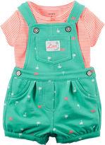 Carter's 2-pc. Top and Shortalls Set - Baby Girls newborn-24m
