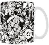 "Marvel MG23445 8 x 11.5 x 9.5 cm ""Retro Characters"" Ceramic Mug, Multi-Colour"