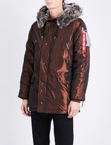 Alpha Industries N3-b quilted shell parka coat