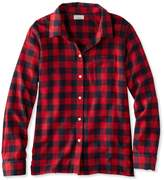 L.L. Bean L.L.Bean Flannel Pajama Top, Plaid