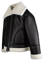Wide Fit Mouton Jacket Black
