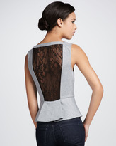 Robbi & Nikki Lace-Back Peplum Top