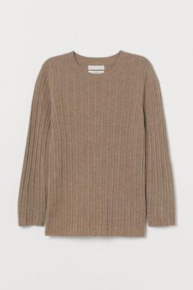 H&M Rib-knit cashmere jumper