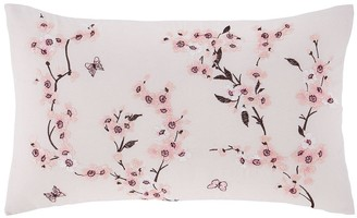 Catherine Lansfield Embroidered Blossom Cushion