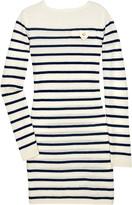 Breton mini cashmere sweater dress