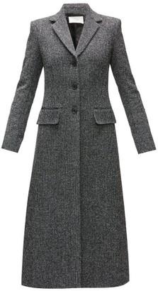 The Row Sua Single-breasted Wool-blend Tweed Coat - Black Multi