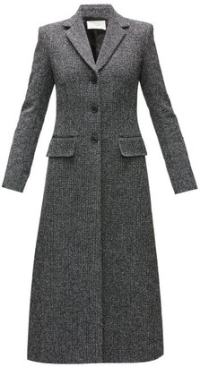 The Row Sua Single-breasted Wool-blend Tweed Coat - Womens - Black Multi