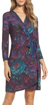 BCBGMAXAZRIA Women's Adele Rose Tapestry Wrap Dress