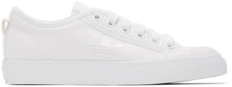 adidas White Nizza Trefoil Sneakers