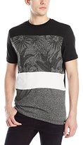 Southpole Men's Marled Cut and Sewn T-Shirt with All Over Plantation Patterns