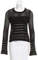 Rebecca Minkoff Open Knit Contrast Sweater