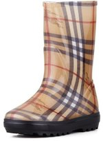 Burberry Check Rain Boot, Youth