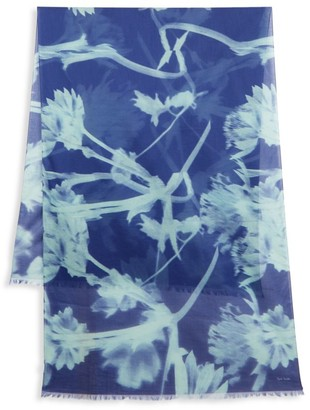 Paul Smith Floral Woven Scarf