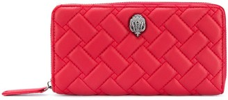 Kurt Geiger Quilted Zip-Around Wallet