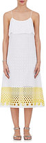 Lisa Perry Women's Cotton Eyelet Tiered Slipdress