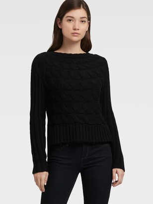DKNY Horizontal Cable Knit Sweater