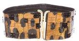 Oscar de la Renta Embellished Leather Waist Belt