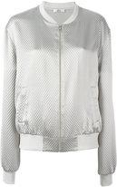 Area zipped bomber jacket - women - Silk - S