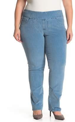 Jag Jeans Peri Corduroy Straight Leg Pants (Plus Size)