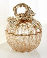 Jay Strongwater Small Gilded Glass Pumpkin Box