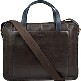 Hidesign Campbell Briefcase, Brown/navy