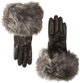UGG Three Point Long Toscana Trim Leather Smart Gloves