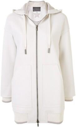 Lorena Antoniazzi Hooded Zip-Up Sports Coat