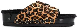 SUECOMMA BONNIE Platform Leopard Print Sandals