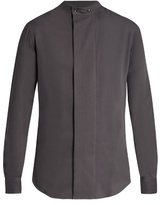 Giorgio Armani Collarless Wide-placket Shirt