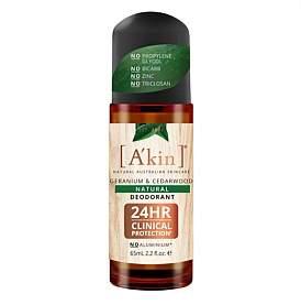 Akin A'kin A'KIN Cedarwood & Geranium Natural Roll-On Deodorant 65Ml