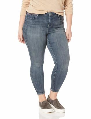 Skinnygirl Women's Plus Size The Skinny Ankle in Injeanious Stretch Denim