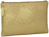 Whiting & Davis Large Pouch Clutch - Gold