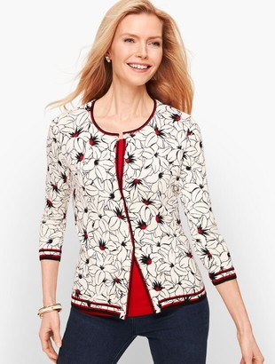 Talbots Charming Cardigan - Floral