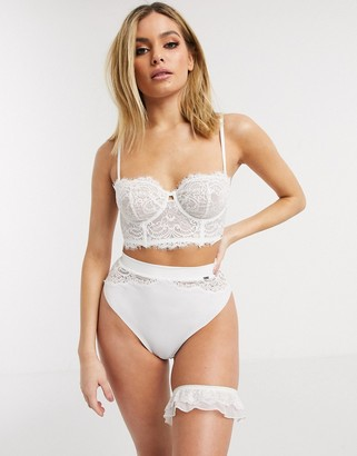 Lindex Ella M Smilla bridal lace longline bra in white