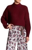 Gracia Mock Neck Cropped Sweater