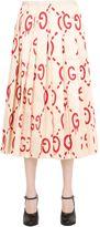 Gucci Gg Printed Silk Duchesse Skirt