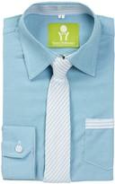 Future Trillionaire Dapper Dude Solid Chambray Shirt & Stripe Tie (Toddler, Little Boys, & Big Boys)