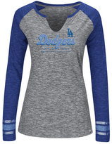 Women's Los Angeles Dodgers Running Out Long Sleeve T-Shirt